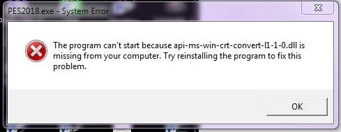 The program can't start becauseapi-ms-win-crt-runtime-l1-1-0.dllis missing